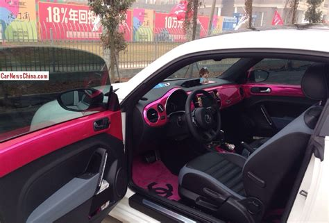 volkswagen cer inside volkswagen beetle is pink inside in china carnewschina com