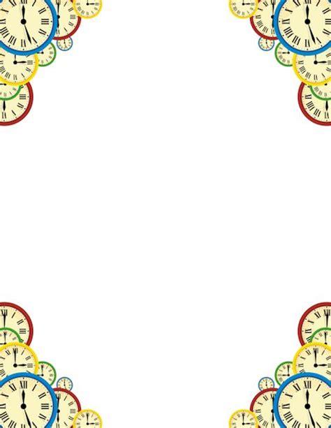 Printable Clock Borders | clock on pinterest