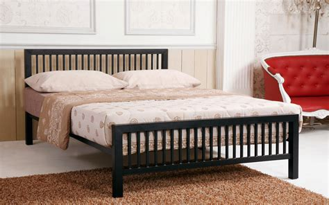 metal frame bed time living meridian metal bed frame mattress
