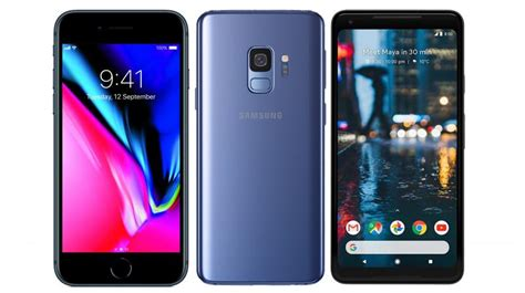 compared samsung galaxy s9 vs apple iphone 8 vs pixel 2 xl