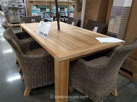 teak outdoor dining table costco 7 teak dining set