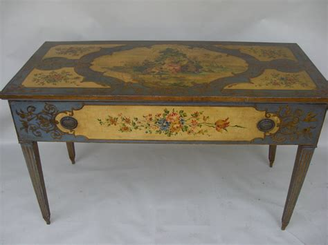 Antique Paint Decorated Console Table For Sale