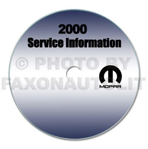 2000 jeep wrangler repair shop manual cd rom