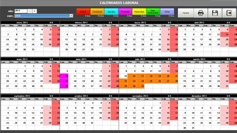 Calendario De Trabajo Manager Abril 2013
