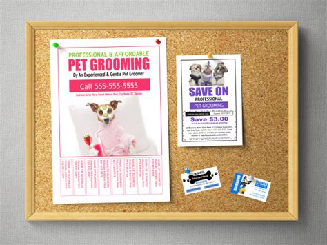 bulletin board flyer template no cost low cost marketing ideas to get more customers into your pet grooming business
