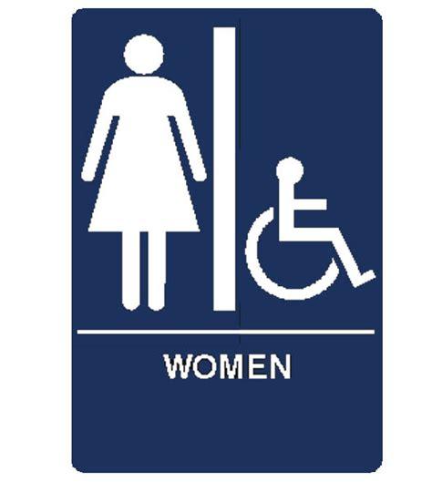 womens room s room handicap sign doorware