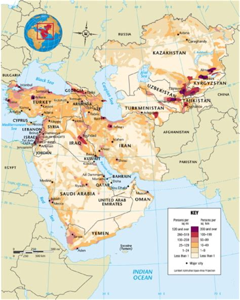 middle east demographic map maps 16 40