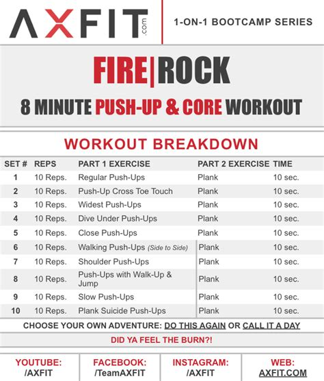 quot firerock quot 8 minute push up home bootc workout