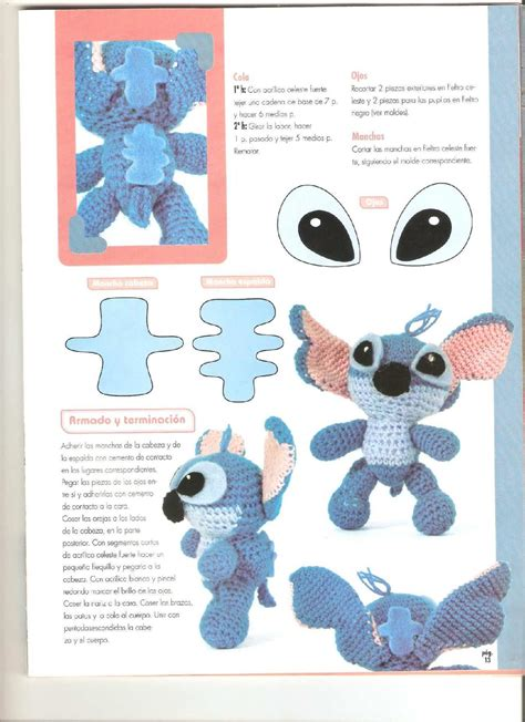 amigurumi stitch pattern lilo e stitch ad amigurumi pattern 5 free cross stitch