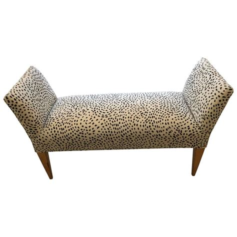 animal print bench stylish bench in black and cream faux animal print for