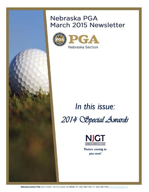 nebraska section pga nebraska pga march 2015 newsletter by david honnens issuu