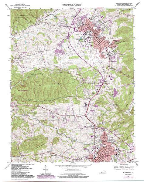 blacksburg va map blacksburg topographic map va usgs topo 37080b4