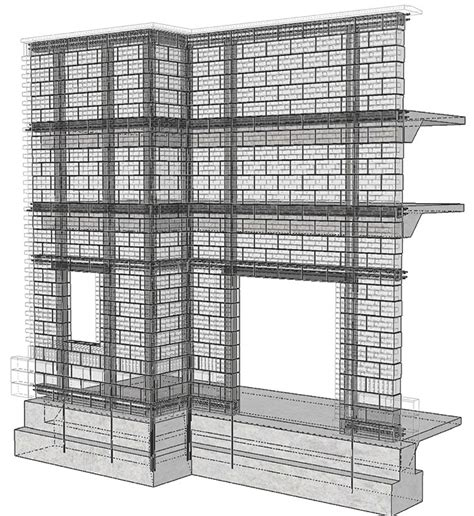 layout for load bearing structure structure magazine bim for masonry