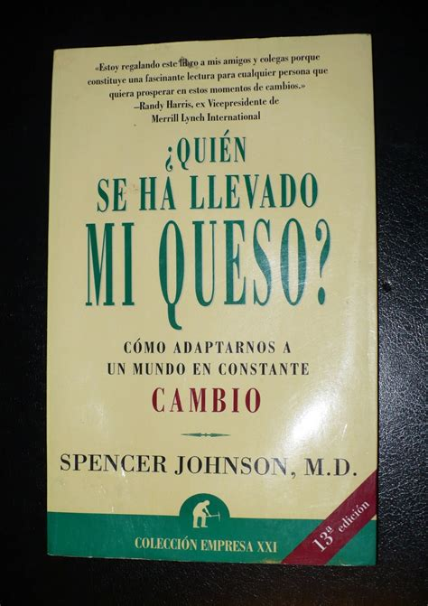 libro quien se ha llevado libro 191 qui 233 n se ha llevado mi queso spencer johnson 130 00 en mercadolibre