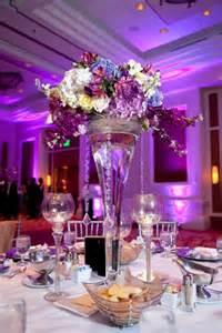 centerpieces ideas purple wedding centerpiece with colorful flowerswedwebtalks wedwebtalks