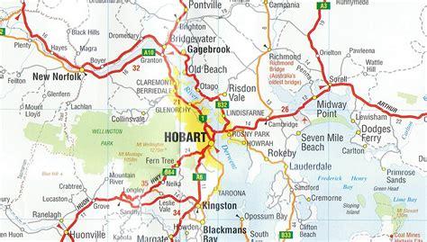printable road map of tasmania detailed map of tasmania pictures to pin on pinterest