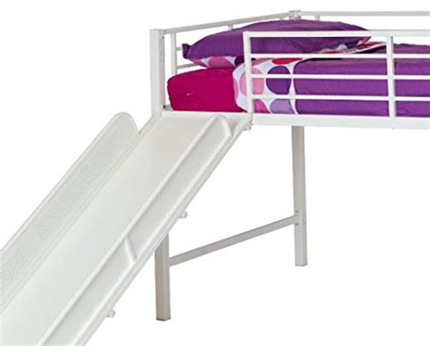 metal loft bed with slide dhp junior twin metal loft bed with slide multifunctional
