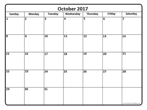 printable october 2017 calendar 21 best october 2017 calendar images on pinterest