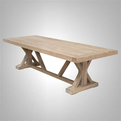 cross leg dining table east colonial