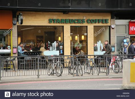starbucks hill starbucks coffee shop at tower hill stock photo