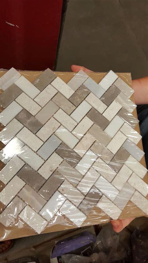 Self Adhesive Kitchen Backsplash Tiles Kitchen Lowes Backsplash In Beige And Grey Herringbone