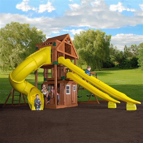 sears backyard playsets wooden swing sets pick up an outdoor playhouse at sears