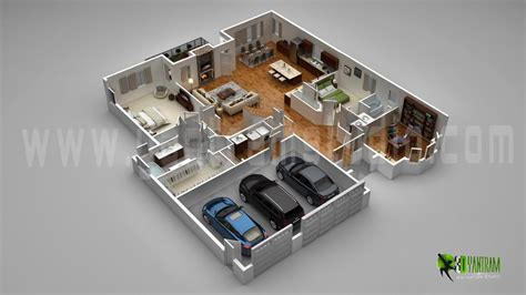 3d home floor plan design floor plan for 3d modern home with parking slot 3d floor
