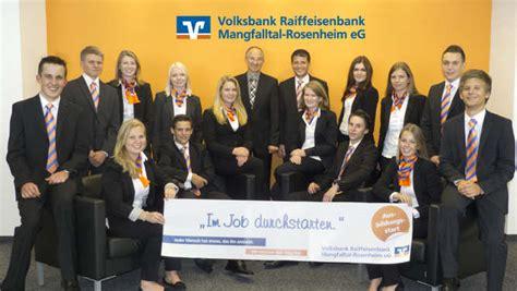 vr bank mangfalltal rosenheim 14 neue mitarbeiter starten bei der volksbank