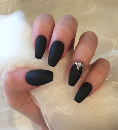 matte black nail designs 33 killer coffin nail designs nail design ideaz