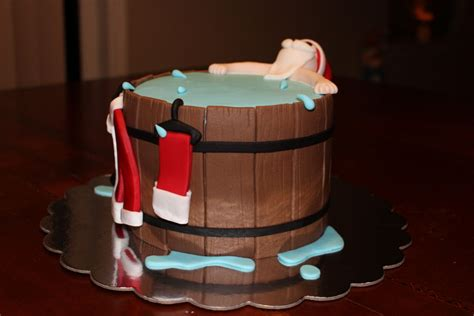 santa in a bathtub hot tub santa cakecentral com