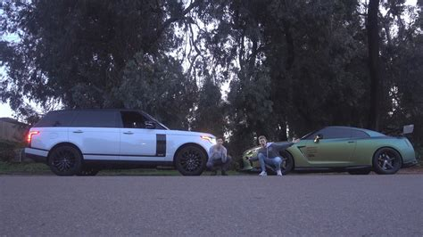 racing land rover racing tanner fox range rover vs gtr vidshaker