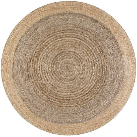 Circular Area Rug Nuloom Shag Grey 8 Ft X 8 Ft Area Rug Ozsg02g 808r The Home Depot
