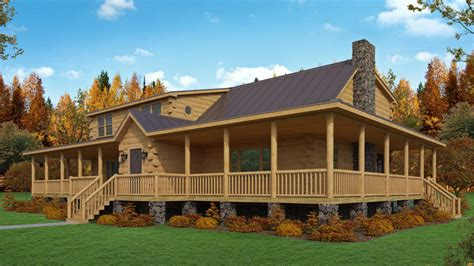 log homes with wrap around porches homes i like log cabin kit the crawford sports a great wrap around porch