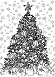 Christmas themed adult coloring sheet christmas crafts craftbits