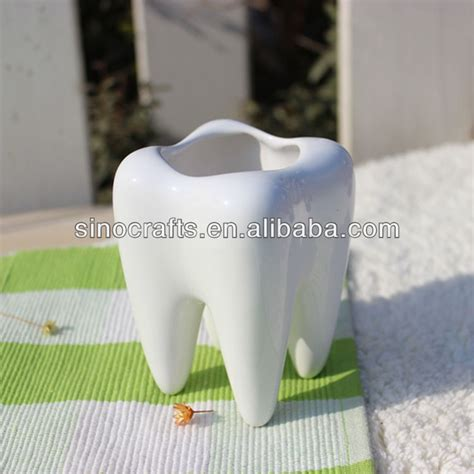 tooth shaped planter ceramic tooth shape flower pot unqiue design flower pot