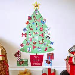 christmas wall stickers uk personalised advent calendar tree wall stickers by