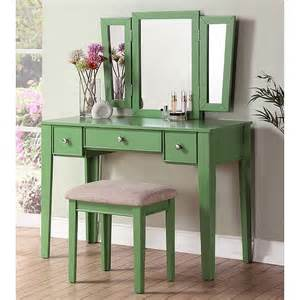 2pc Makeup Vanity Table Set Vanity Makeup Table Modern Bedroom Dressing Set Mirror