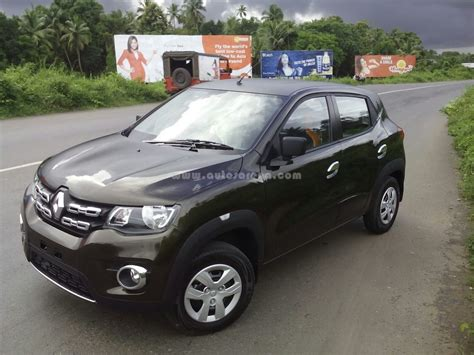 renault kwid black colour renault kwid top variant spotted all details images
