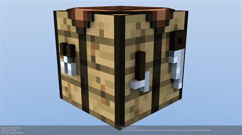 Minecraft Craft Table by Minecraft Crafting Table Model By Craftdanimation On