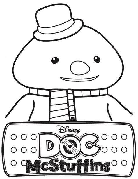 doc mcstuffins chilly coloring pages doc mcstuffins chilly the snowman coloring page h m