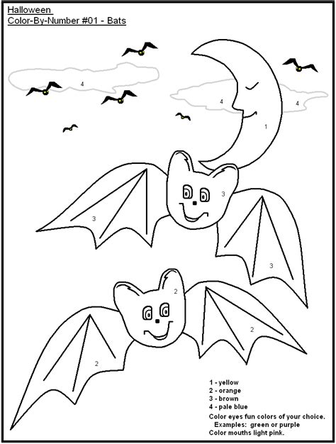 halloween coloring pages by numbers halloween color by numbers coloring home