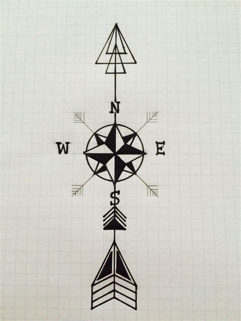 arrow compass tattoo 25 best ideas about arrow compass on