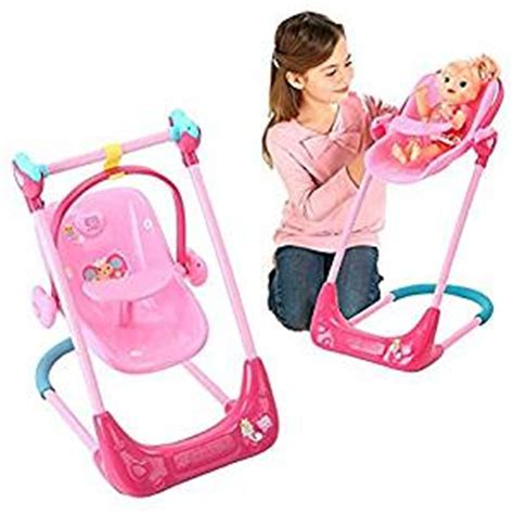 baby alive high chair cupcake baby alive swing high chair and car seat 3 in