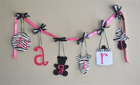 Pink Zebra Baby Shower Decorations by Zebra Baby Shower Decorations Pink And Black Banner