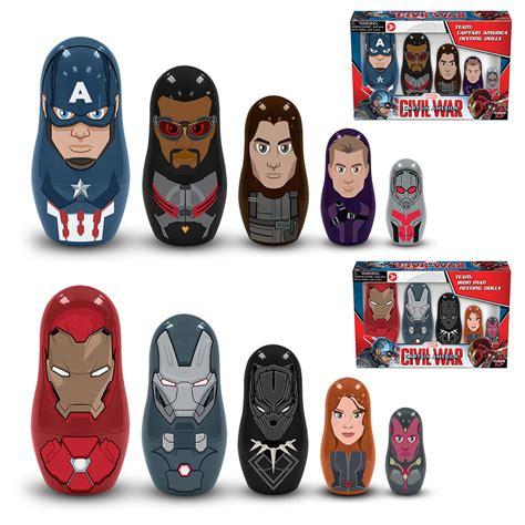 Kaos Tshirt Mini Ninjas Parva build your team with captain america civil war nesting dolls