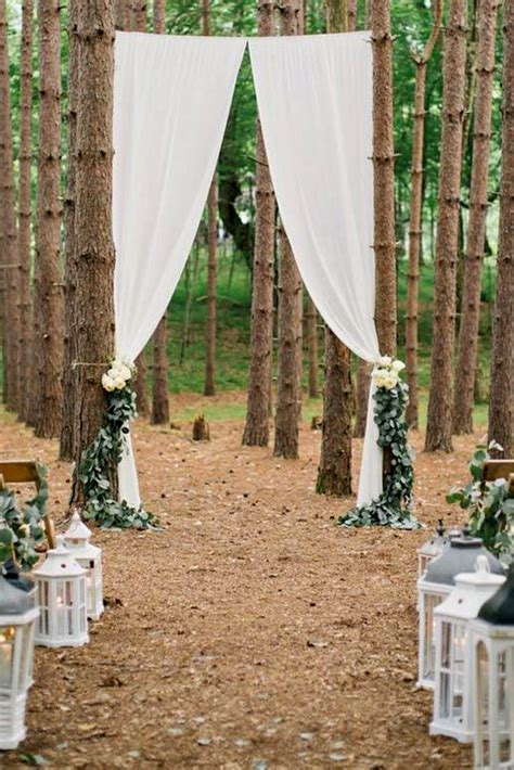 Wedding Arch Between Trees by 25 Chic And Easy Rustic Wedding Arch Ideas For Diy Brides