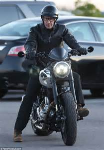 Buff Masker Motif Harley Davidson matt leblanc looks buff at grand prix in daily