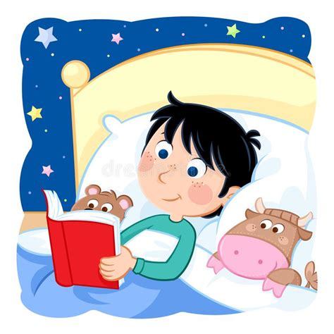 Boys Bedtime Stories bedtime daily routine boy reading book in his