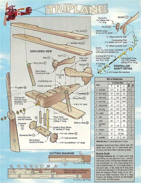 1734 triplane whirligig plans woodarchivist