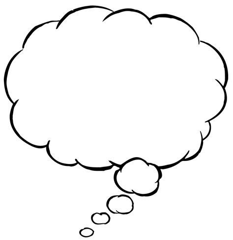 Thinking Outline by Thought Images Clipart Best